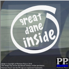1 x Great Dane Inside-Window,Car,Van,Sticker,Sign,Adhesive,Dog,Pet,On,Board,Big,Mastiff,Giant,Guard